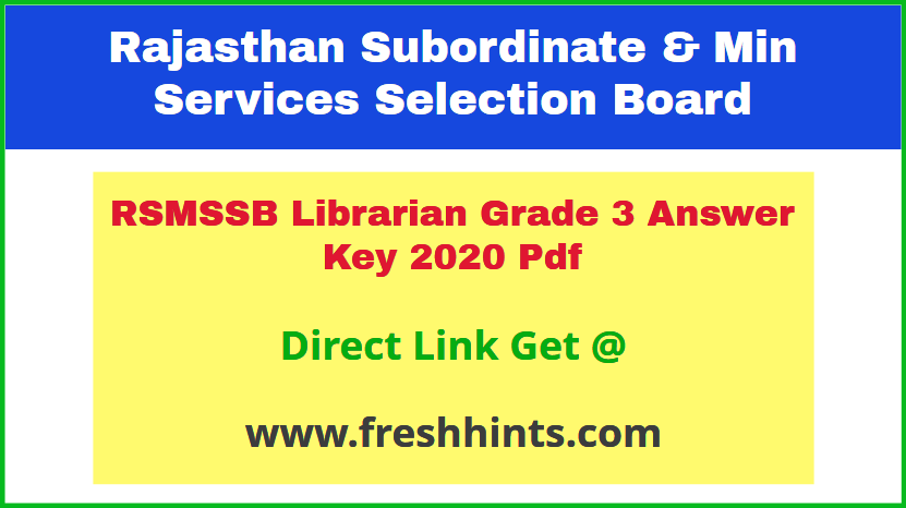rajasthan-librarian-3rd-grade-answer-sheet-2020