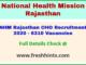 Rajasthan Swasthya Vibhag CHO Bharti 2020