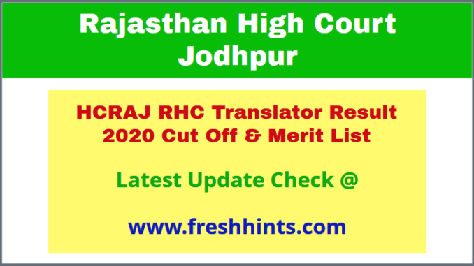RHC Translator Selection List 2020