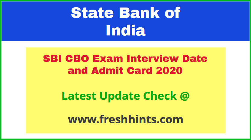 SBI Circle Based Officer Call Letter 2020