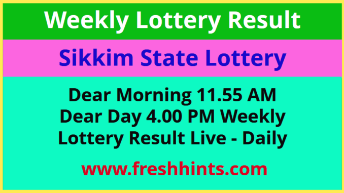 Sikkim Weekly Lottery Result 2020