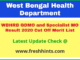 West Bengal Medical Officer Selection List 2020