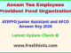 ATEPFO JA and AFCO Answer Sheet 2020 Pdf Download