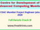 CDAC Mumbai Project Engineer Jobs