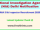 NIA SI & Inspector Recruitment 2020