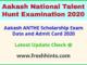 Aakash Scholarship Exam Hall Ticket 2020