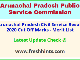 APPSC APPSCCE Results Selection List 2020