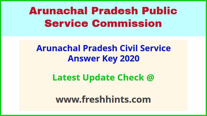 Arunachal Pradesh PSC APPSCCE Answer Sheet 2020
