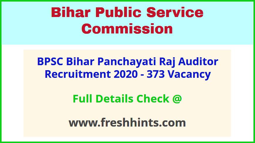 Bihar Panchayati Raj Auditor Bharti 2020