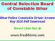 CSBC Chalak Sipahi Answer Sheet 2020