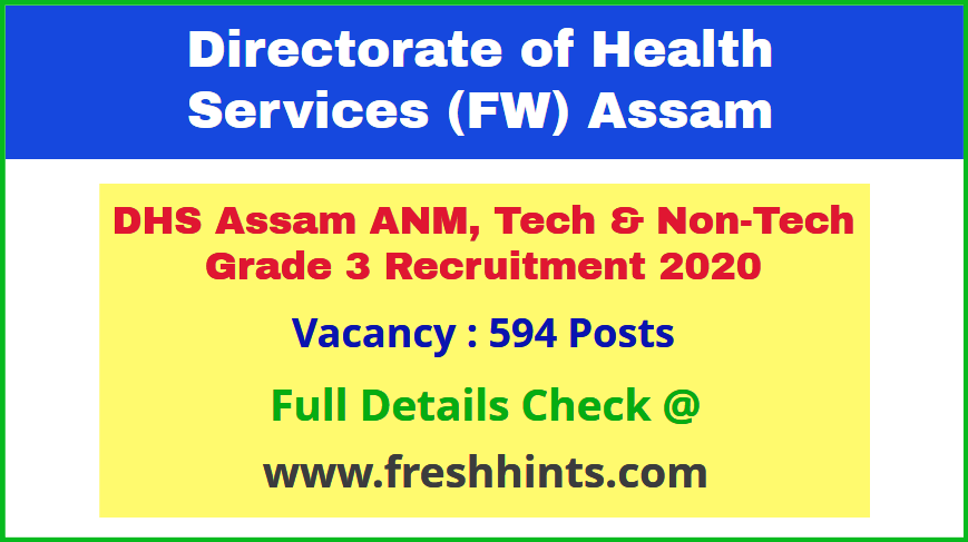 DHSFW ANM Recruitment 2020 Latest Update News