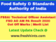 Food Safety and Standards Authority of India TO FSO Results 2020
