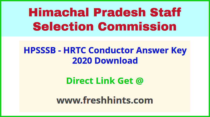 HPSSSB Bus Conductor Answer Sheet 2020