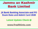 Jammu and Kashmir Bank PO Clerk Call Letter 2020 Download