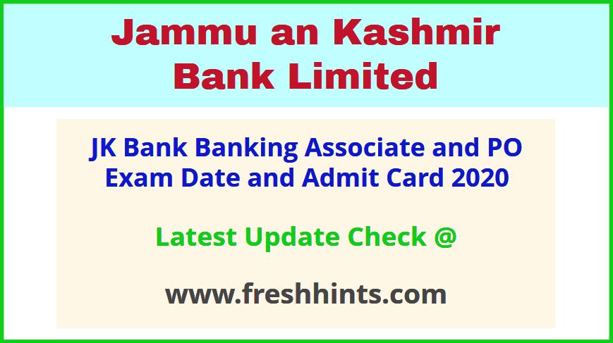 Jammu and Kashmir Bank PO Clerk Call Letter 2020 Download