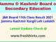 JK Board Class 11 Annual Exam Results Marksheet 2021