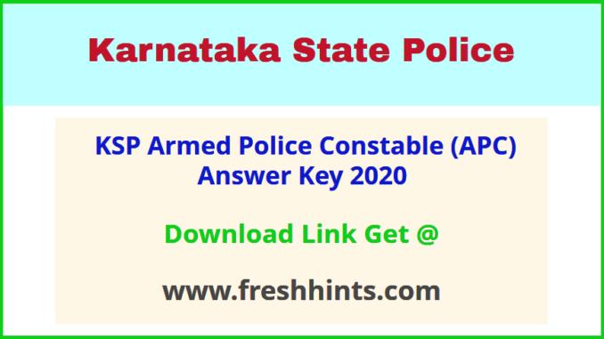 Karnataka Armed Police Constable Key Answer 2020