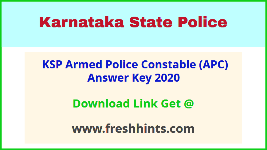 Karnataka Armed Police Constable Key Answer 2020