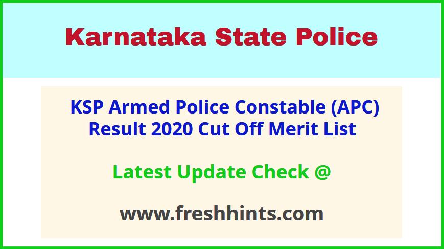 Karnataka Armed Police Constable Selection List 2020
