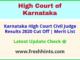 Karnataka HC CJ Selection List 2020
