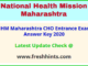 Maharashtra Arogya Vibhag CHO Answer Sheet 2020