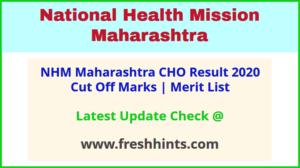 Maharashtra Arogya Vibhag CHO Selection List 2020