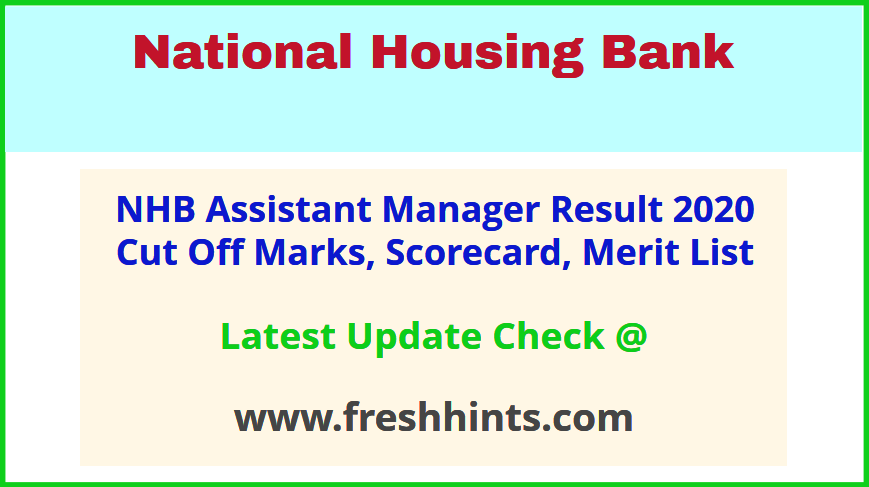 National Housing Bank AM Scale 1 Results 2020