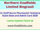 NCL Singrauli Paramedical Admit Card 2020