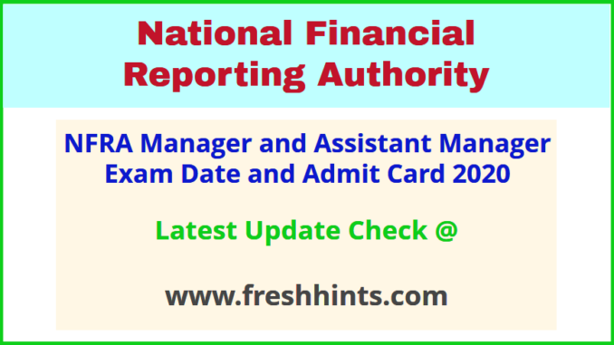 NFRA New Delhi Manager Hall Ticket 2020 Download