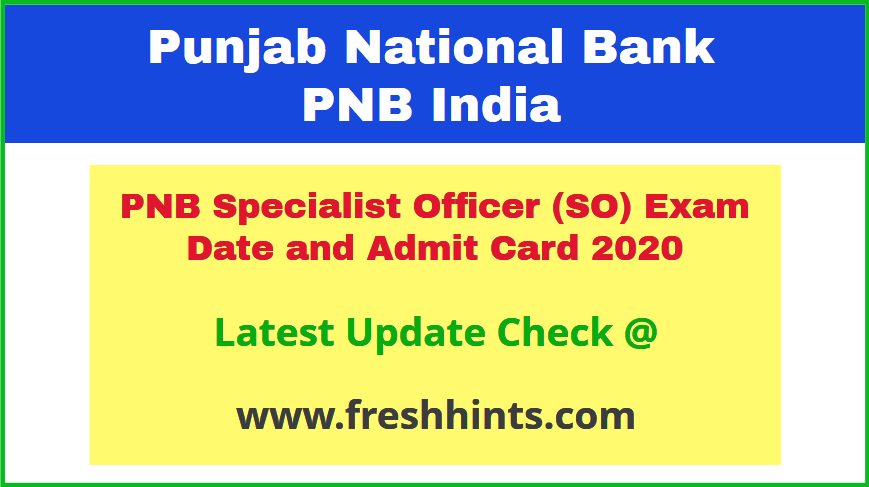 Punjab National Bank Manager Call Letter 2020