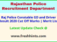 Raj Police Constable Bharti Selection List 2021