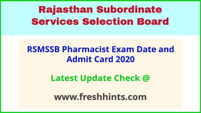 Rajasthan Pharmacist Permission Letter 2020
