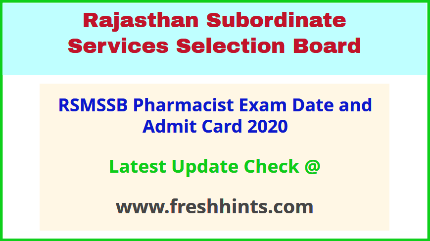 Rajasthan Pharmacist Permission Letter 2020