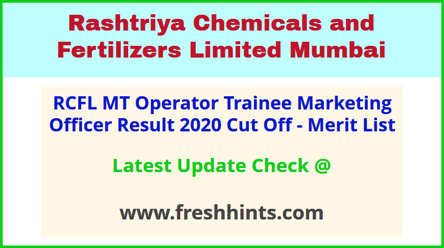 RCF Limited Mumbi MT Operator Officer Selection List 2020