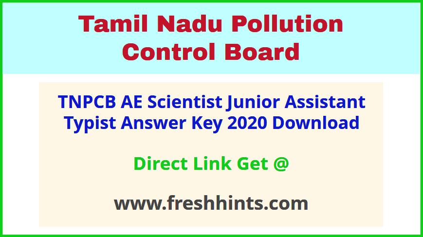Tamil Nadu Pollution Control Board JA Answer Sheet 2020 Download