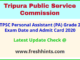 Tripura Personal Assistant Hall Ticket 2020
