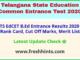 TS B.Ed Entrance Exam Results 2020