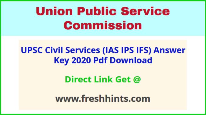 UPSC Civil Service Answer Sheet 2020 Pdf Download