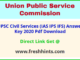 UPSC Civil Service Answer Sheet 2020 Pdf Download