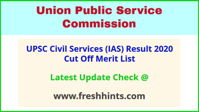 UPSC CSE Results Score Card 2020