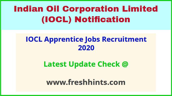 IOCL Apprentice Jobs Recruitment 2020