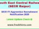 SECR ITI Apprentice Recruitment Notification 2020