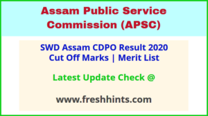 Assam Child Development Project Officer Selection List 2020