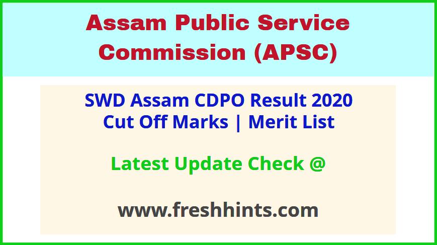 Assam Child Development Project Officer Selection List 2020
