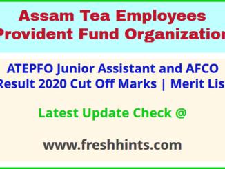 ATEPFO JA and AFCO Selection List 2020