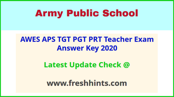 AWES APS CSB Answer Sheet 2020 Pdf Download