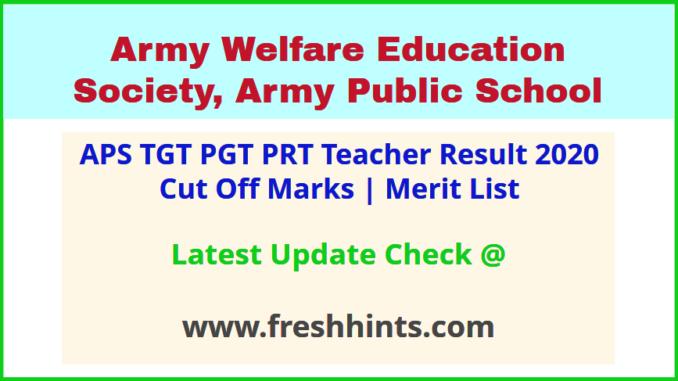 AWES APS Teacher Selection List 2020