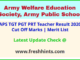 AWES APS Teacher Selection List 2020