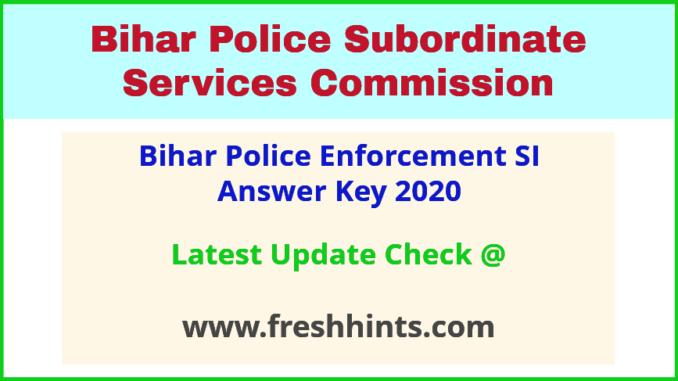 BPSSC Enforcement Sub Inspector Answer Sheet 2020