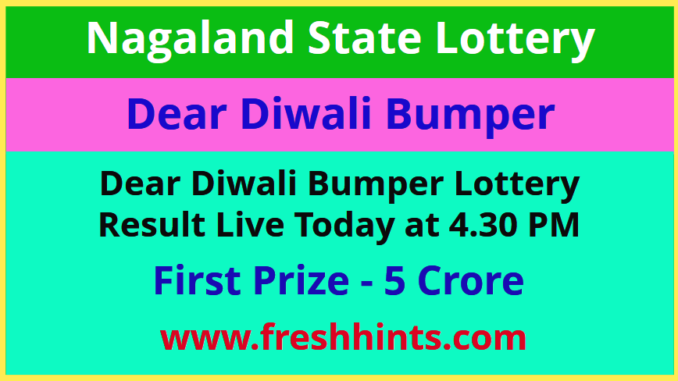 Dear Diwali Bumper Results 2020 - Nagaland Lottery